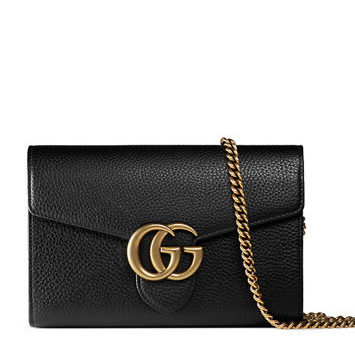 98952eae4f3 GUCCI Marmont Wallet on Chain Bag - Black - Adorn Collection
