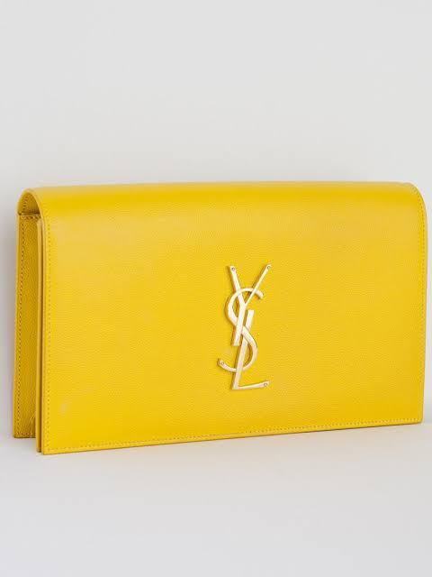 Ysl Medium Classic Monogram Kate Clutch Yellow Adorn