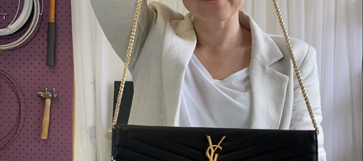 Handbag Hack: DIY Shoulder chain upgrade for YSL clutch bags