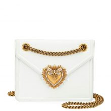 D&G Medium Devotion Bag – White
