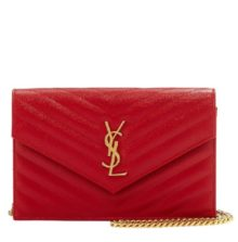YSL Wallet on Chain – Dark Red