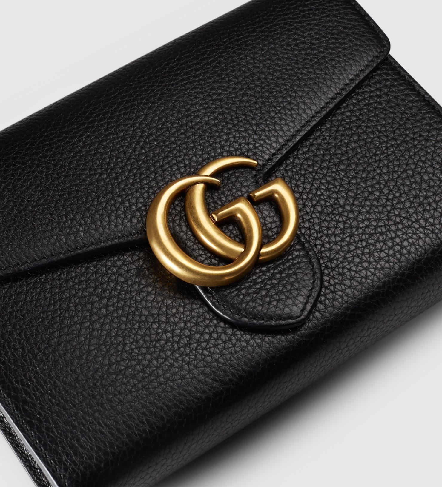 7600f0e565 GUCCI Marmont Wallet Chain Bag - Black