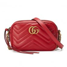 GUCCI Marmont matelassé mini camera bag – Red