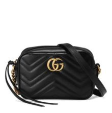 GUCCI Marmont matelassé mini camera bag – Black