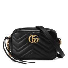 GUCCI Marmont Mini Camera Bag – Black