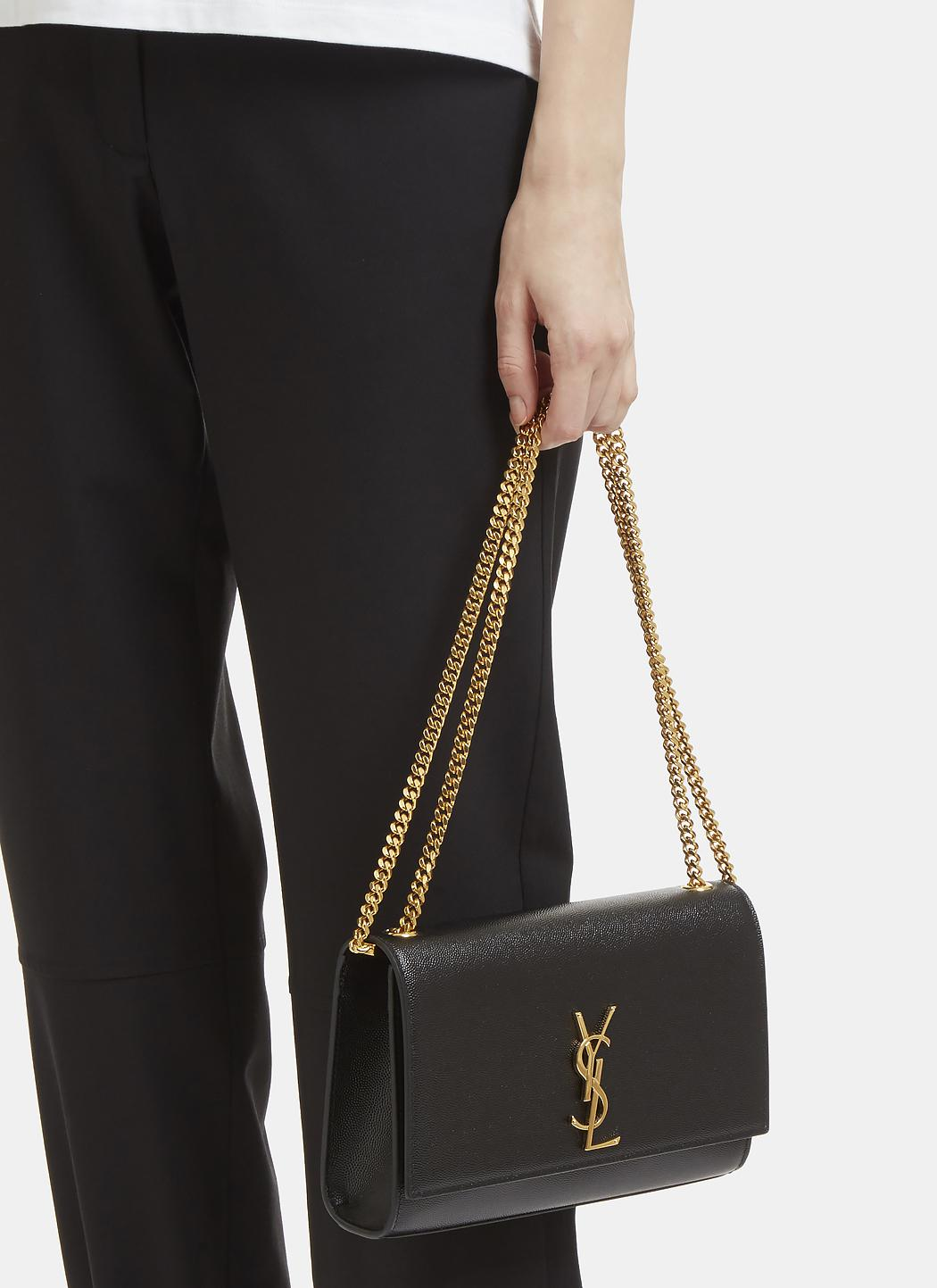 Ysl Medium Kate Monogram Bag Black Adorn Collection