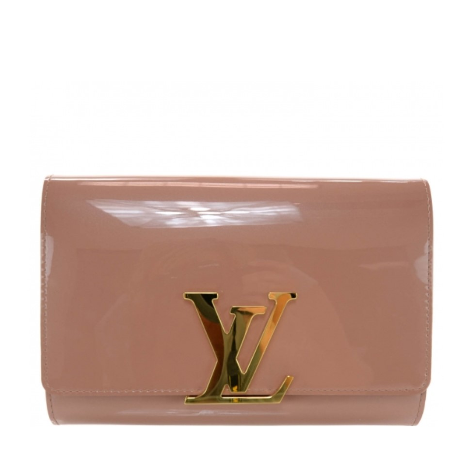 7e1a7d2f001c LOUIS VUITTON Vernis Louise Clutch - Rose Velours - Adorn Collection